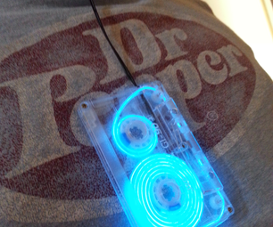 EL Wire Cassette Tape Dangler