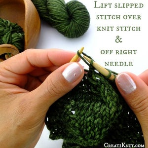 Lift This Slipped Stitch Over the Knit Stitch, and Let It Go Over and Off the Right Needle.