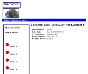 THE NEW ZERO CROSSING OPTO ISOLATED WEB BASED  8 CHANNEL TRIAC CONTROLLER