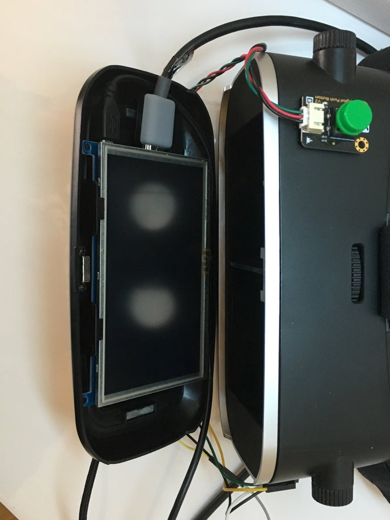 Inserting Screen in Headset and Connecting All the Wiring