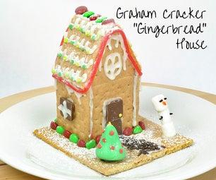 """Graham Cracker """"Gingerbread"""" House for Kids"""
