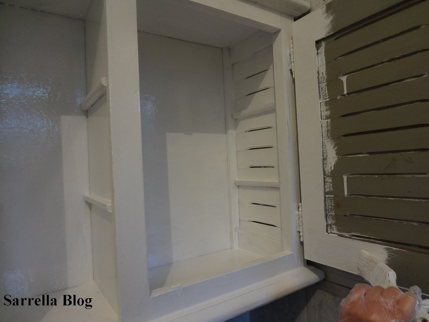 Painting the Inside of the Cabinet