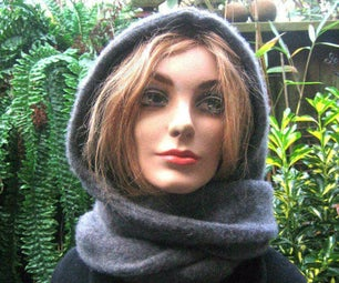 HOODIE SCARF IN 5 MINUTES FROM a SWEATER