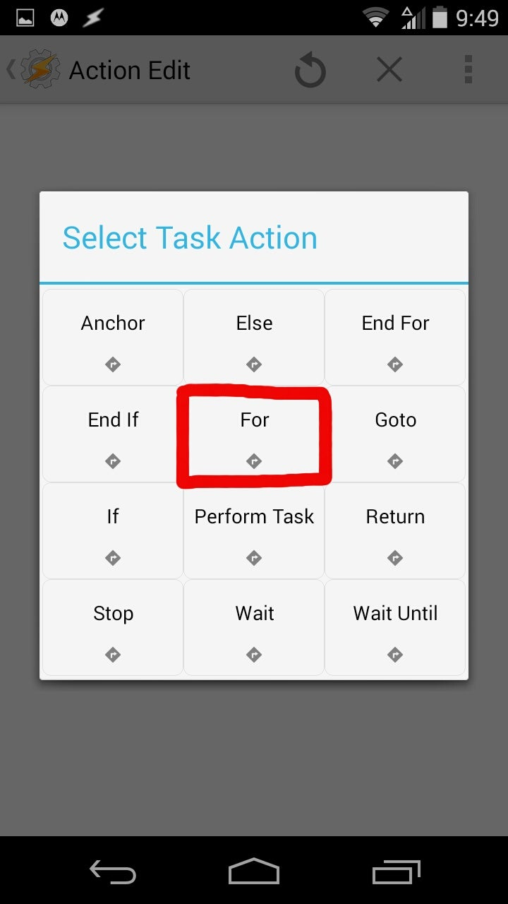 Creating Your Task and for Loop