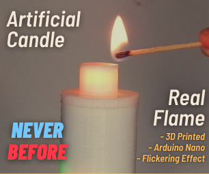 Artificial Candle Ignited by Real Flame