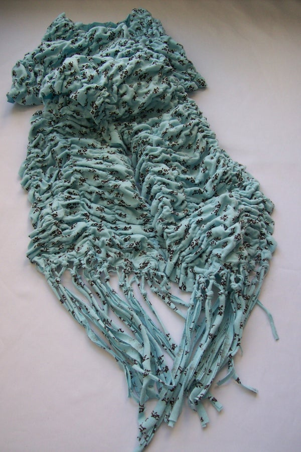 Ruched Scarf From Pajama Pants