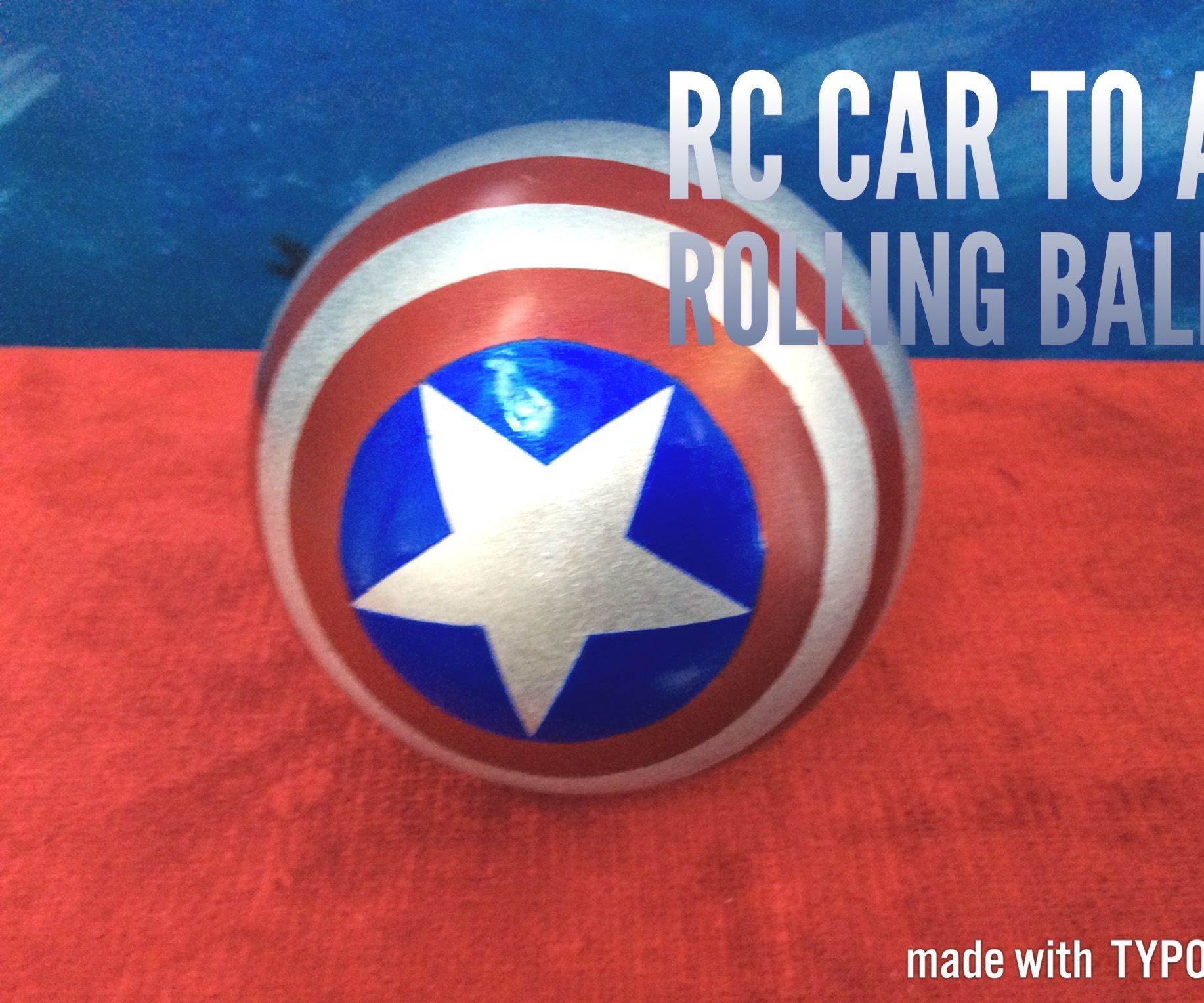 Homade rc rolling ball from rc car