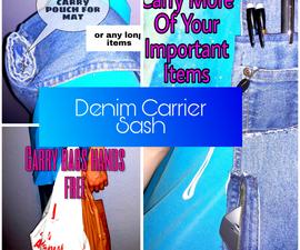 Denim Carrier Sash