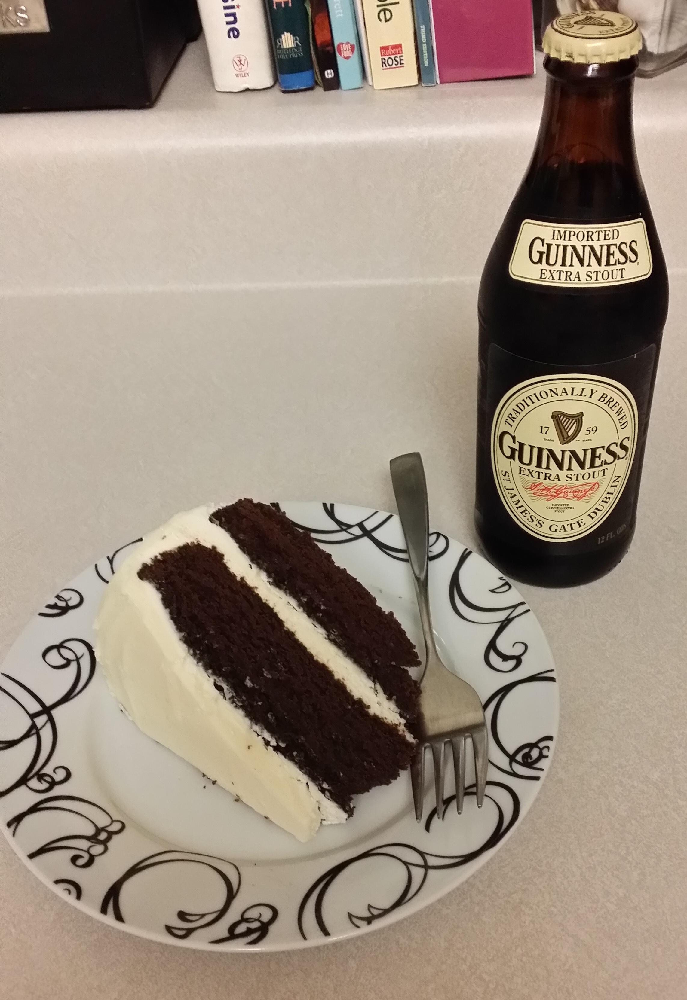Chocolate Guinness Cake with Irish Cream Frosting
