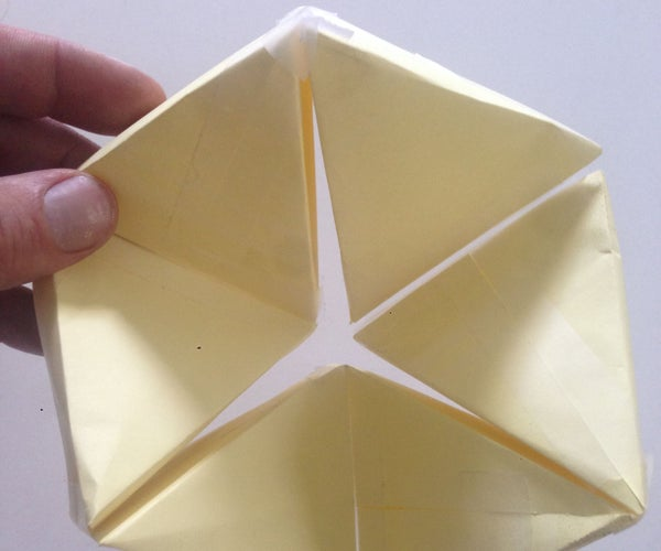 Flexahedron With 3M Post-It Notes and Scotch Tape