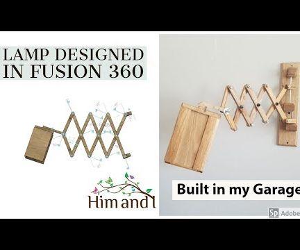 Accordion Lamp Designed Using Fusion 360