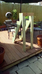 Attach Uprights and Cross Piece