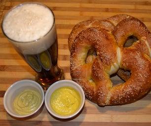真正的巴伐利亚椒盐脆饼