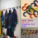 Coat Rack made from Shopping Cart Hooks