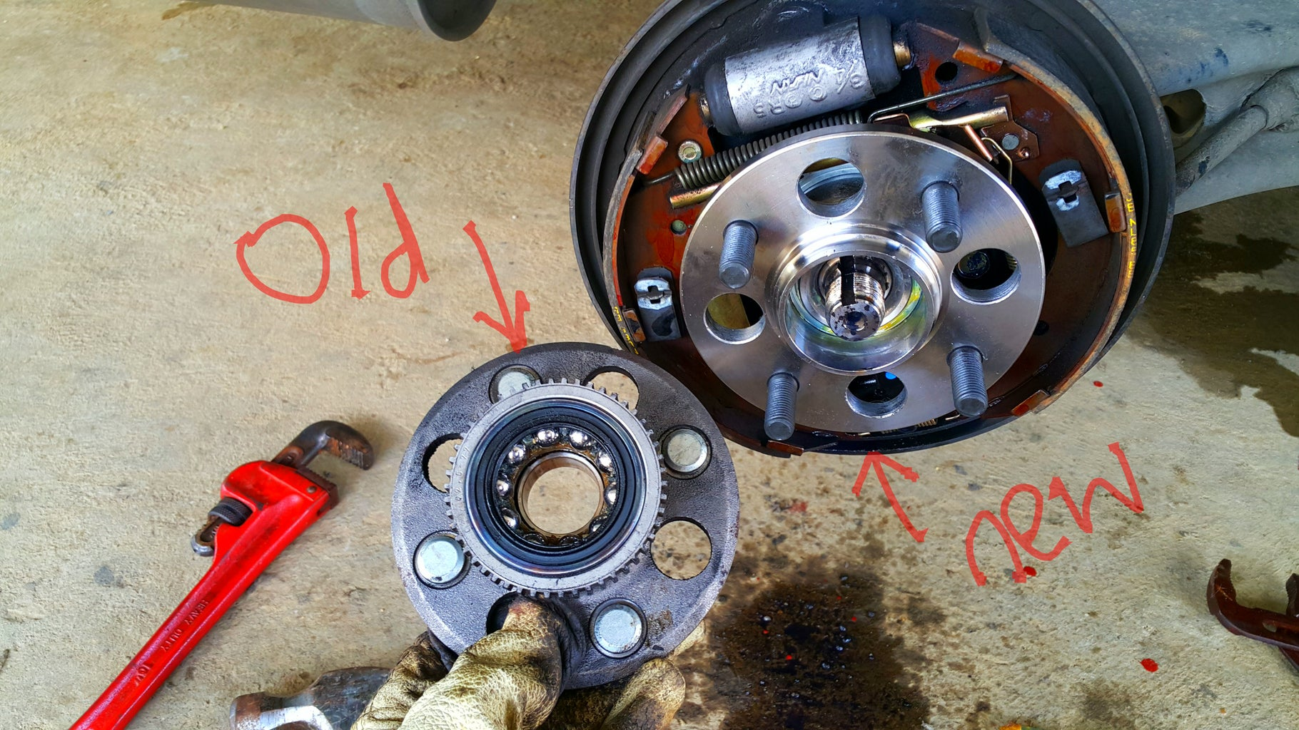 Remove the Old Hub and Install New Hub.