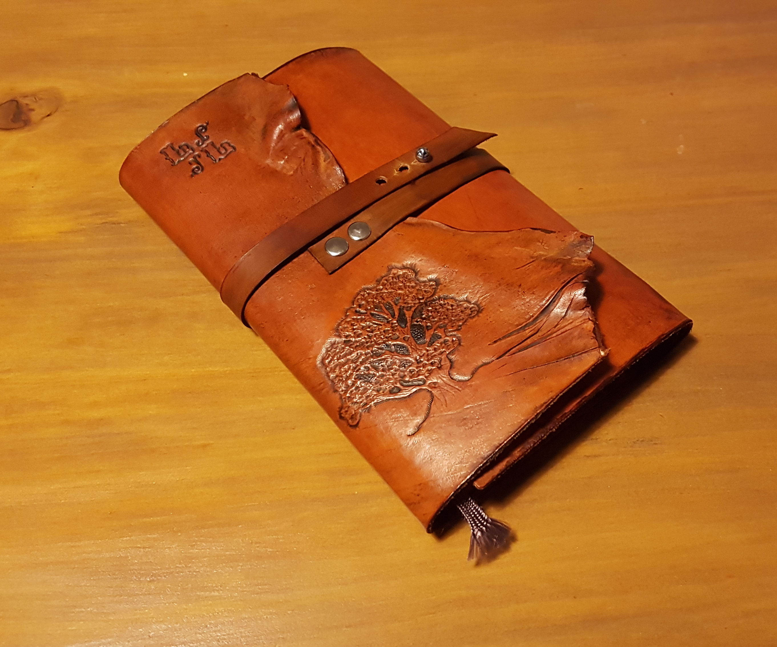 Aged Leather Cover for Moleskine