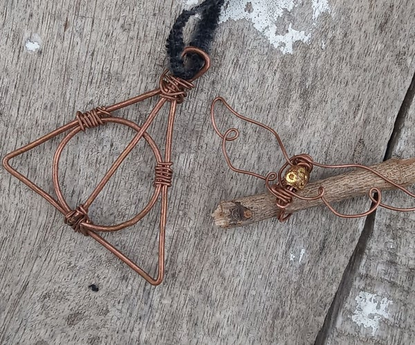 Diy Deathly Hallows Symbol Pendant and Golden Snitch Earcuff