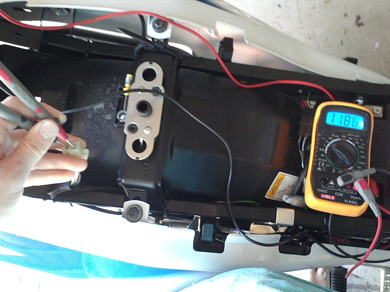 Install a Switched 12v Power Outlet Onto Your Motorbike - Locating Our Switched Lines