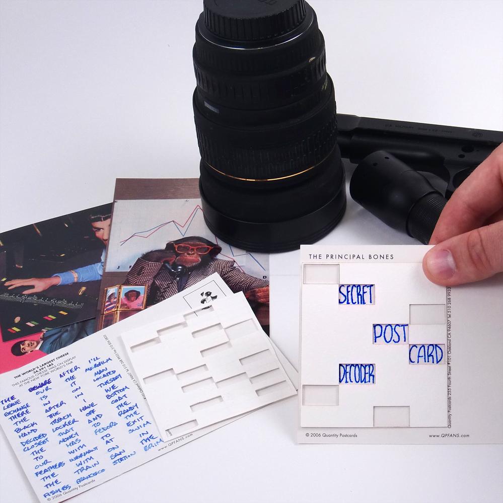 secret postcard decoder
