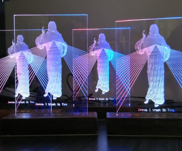 2.5D Divine Mercy Edge Lit Acrylic Lamp
