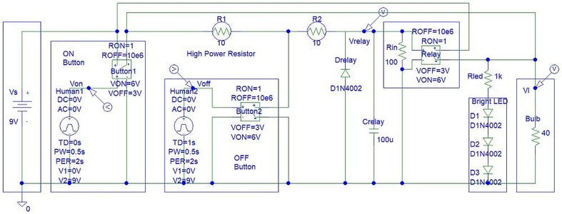 Two Button Relay Switch