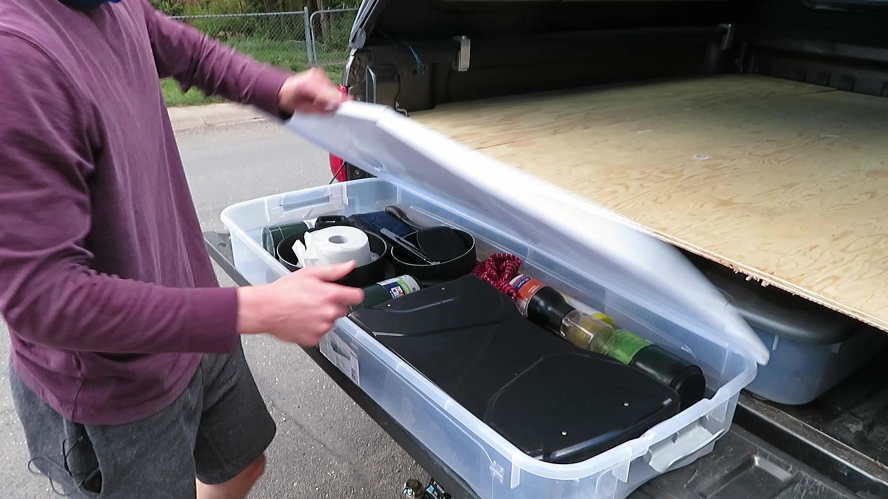 Step 3: Add Storage Bins and Fill With Gear