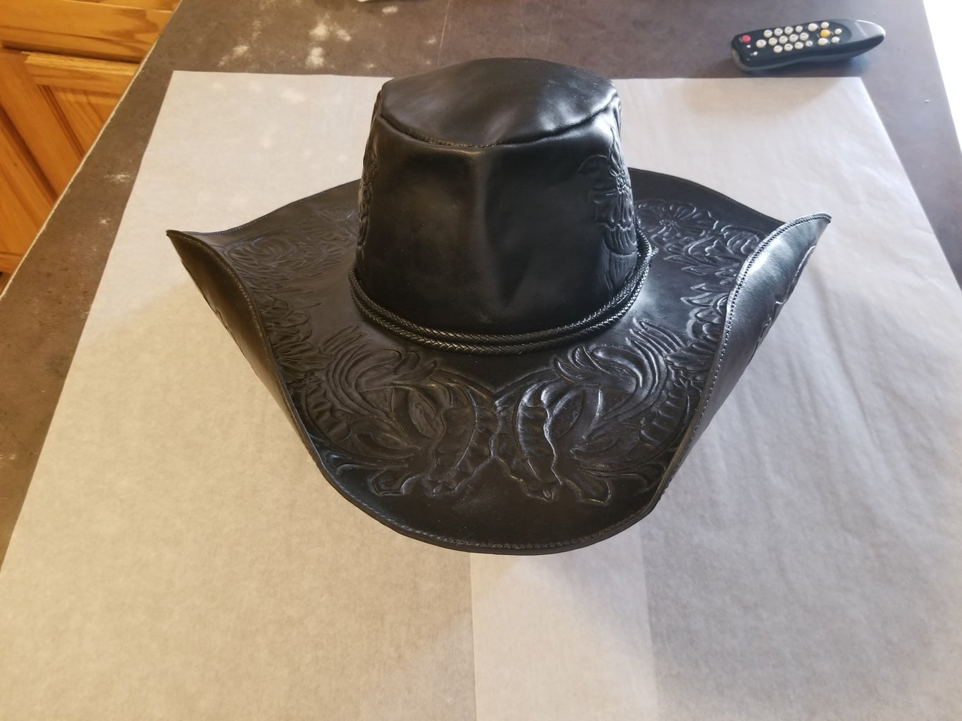 Tooled Leather Hat