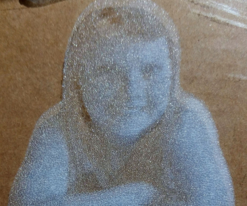 True 8bit photo engraving on chinese laser cutter - maybe a worlds first?