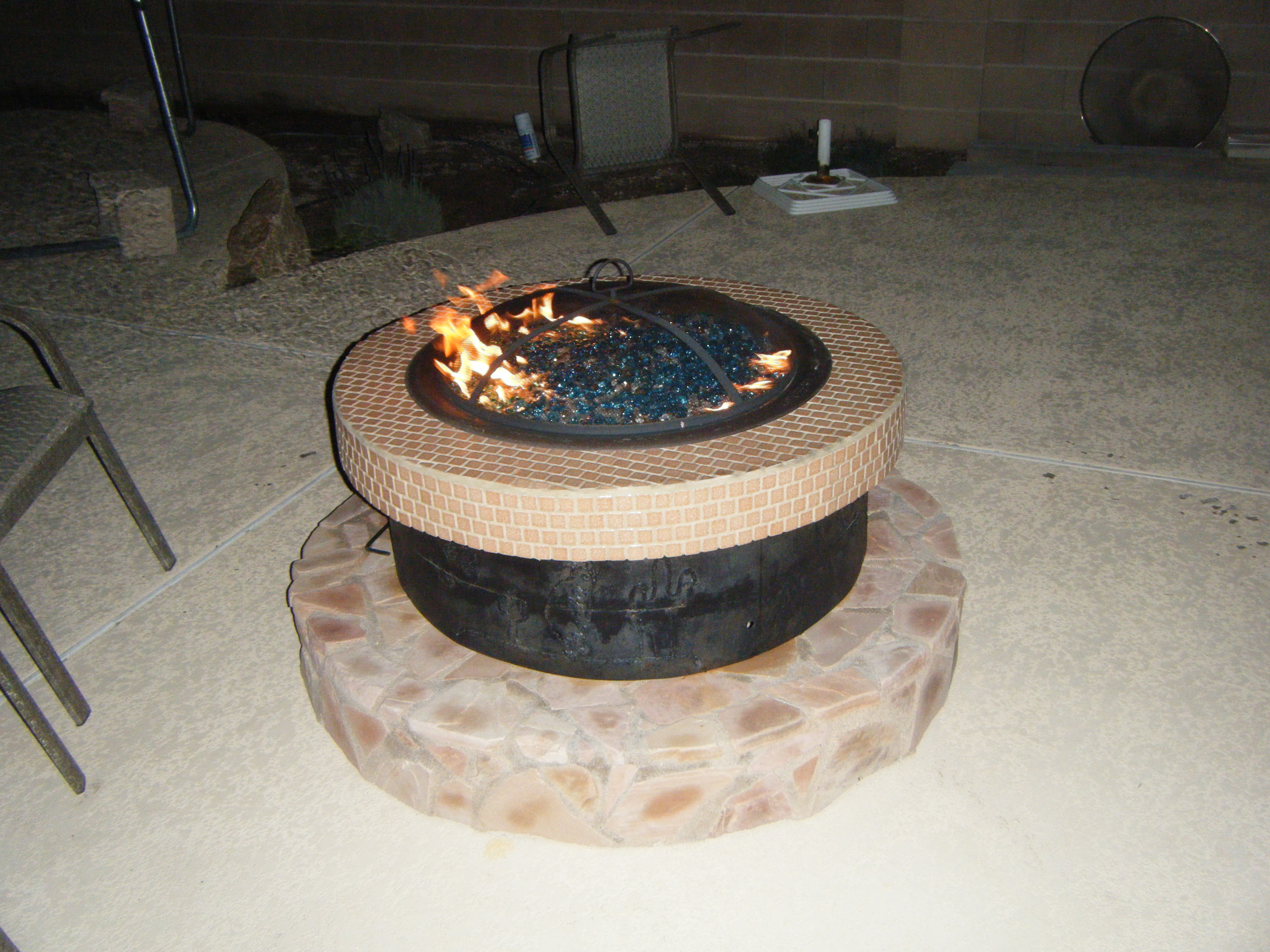 3-Tiered Propane Fire Pit