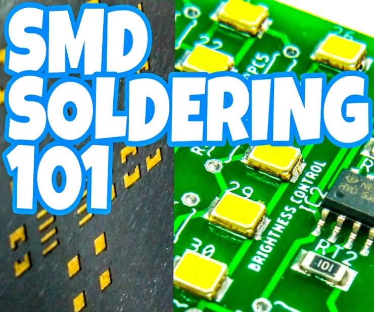 SMD SOLDERING BASICS  USING HOT PLATE, HOT AIR BLOWER, SMD STENCIL AND HAND SOLDERING