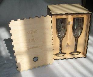 Laser Engraved Flutes and Lasered Presentation Box