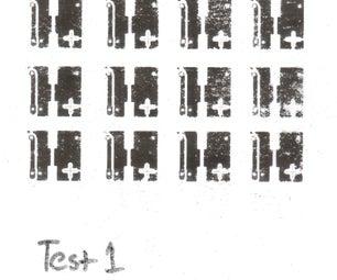 Toner Transfer Material Print Tests