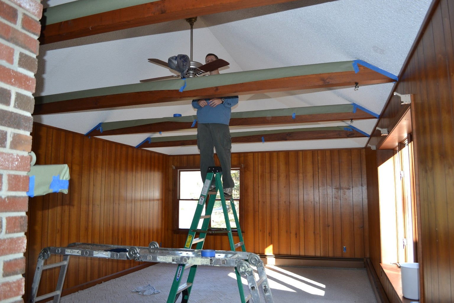 Covering Wood Paneling (Family Room Renovation)