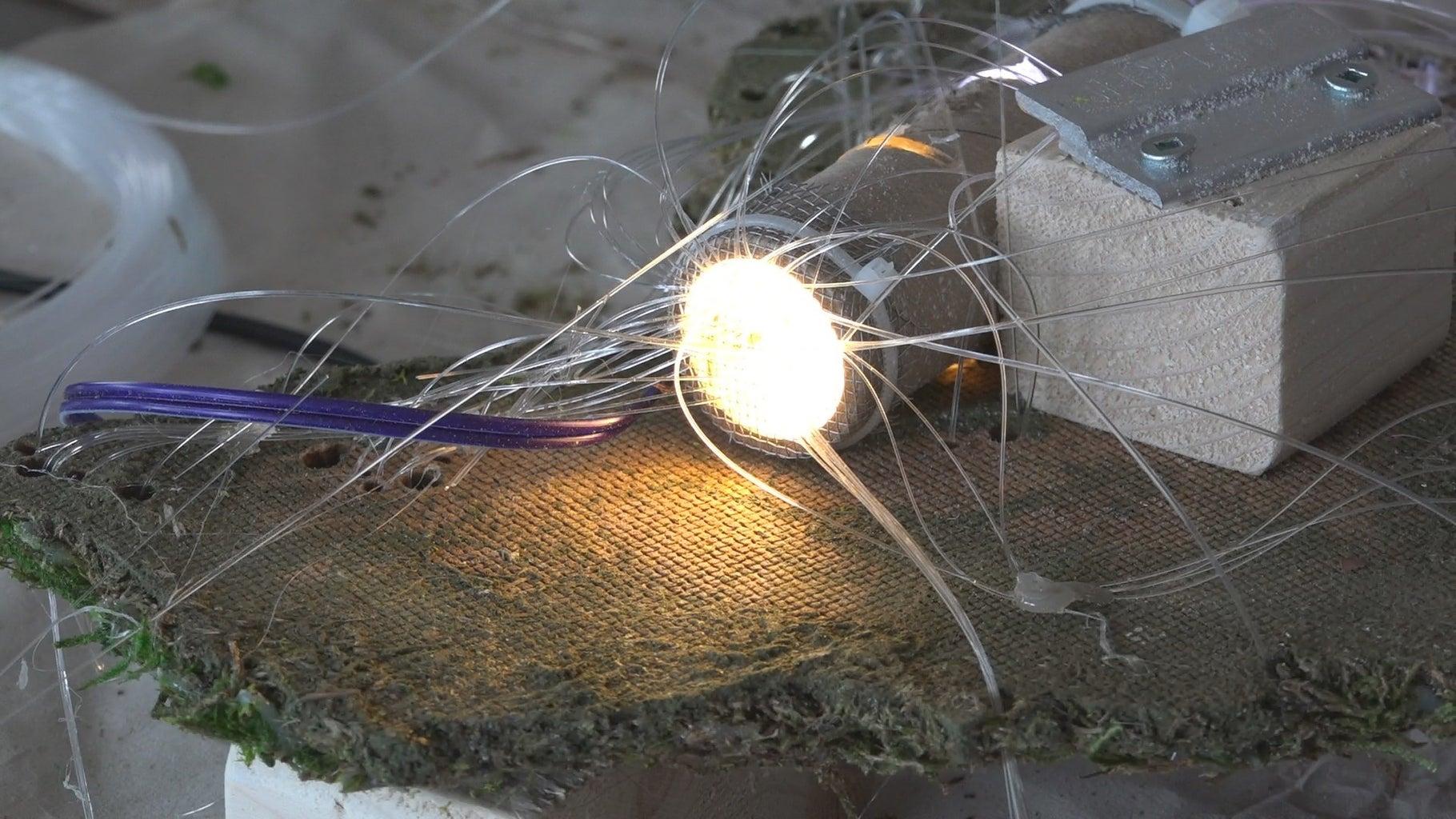 Stringing the Fiber Optic Light Filaments