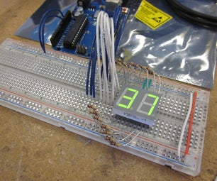 Arduino Powered 7seg Led Display With Port Manipulation - I Made It at TechShop