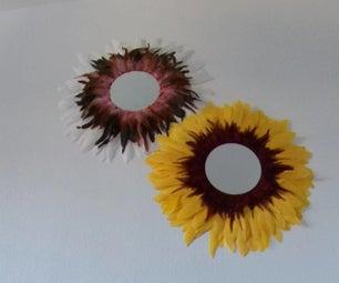 Jujuhat  - 羽毛式向日葵镜子