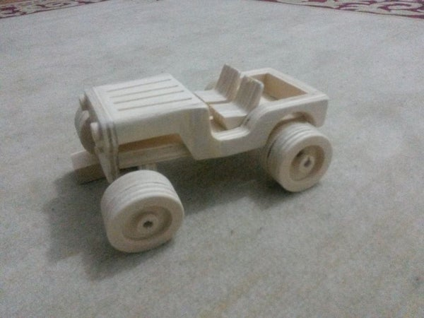 Wooden Toy Jeep - Classic