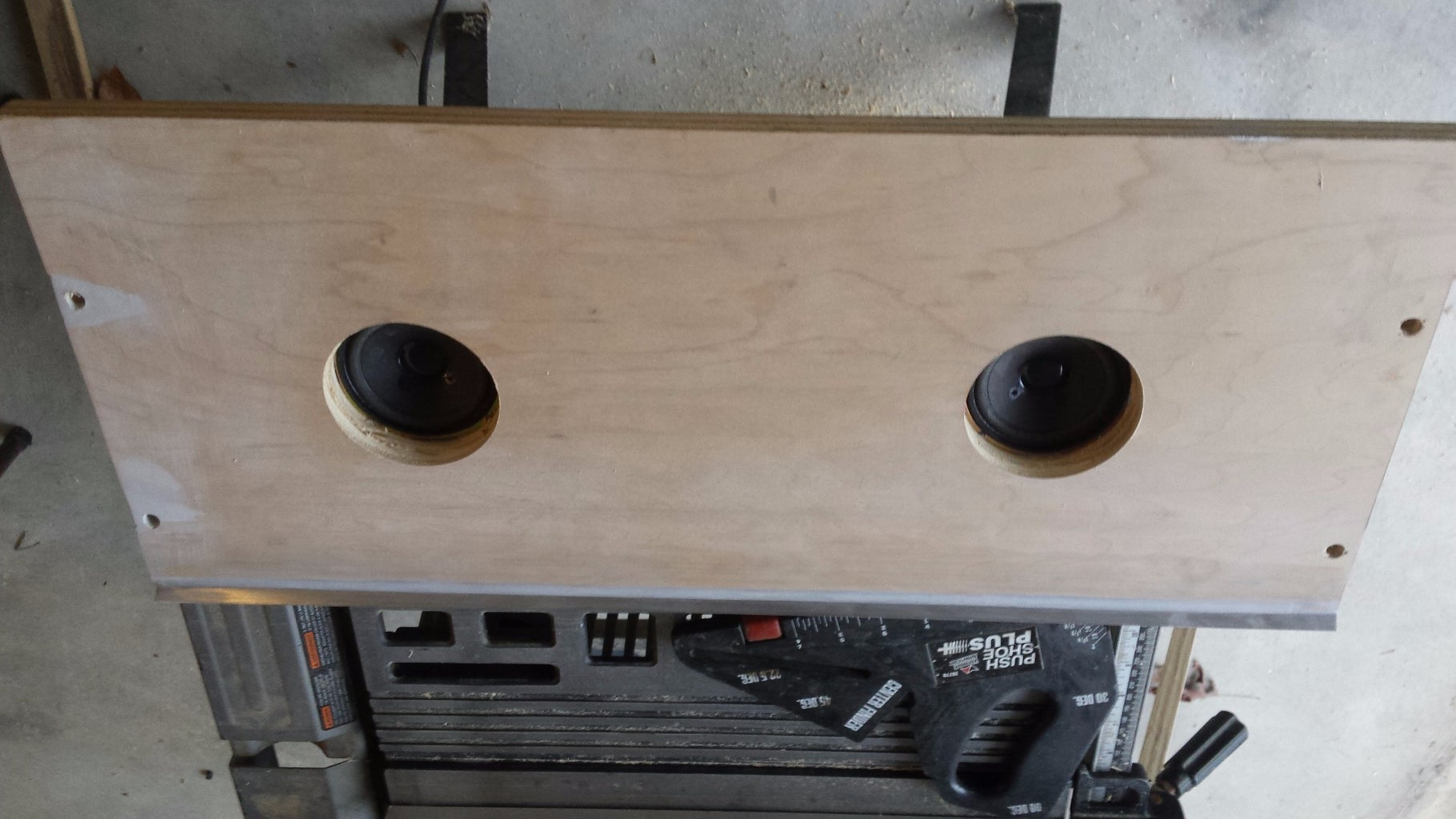 Cut Out the Front Speaker Panel