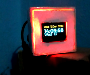 Raspberry  Pi Oled  Clock Watch It Hear It and Feel It