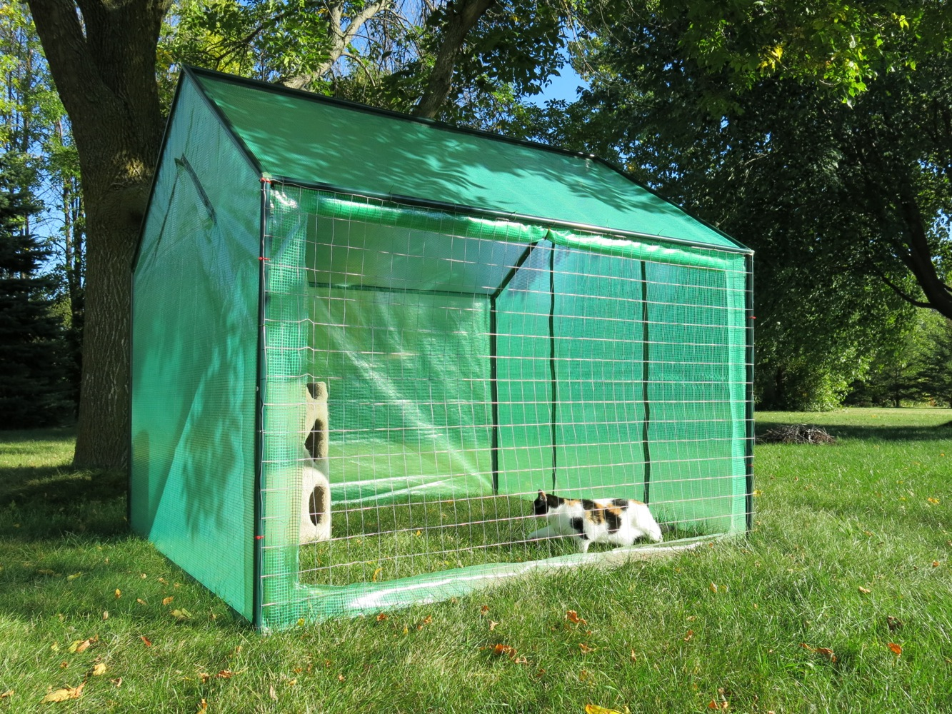 Large Outdoor Cat Run House- Kennel for around $100