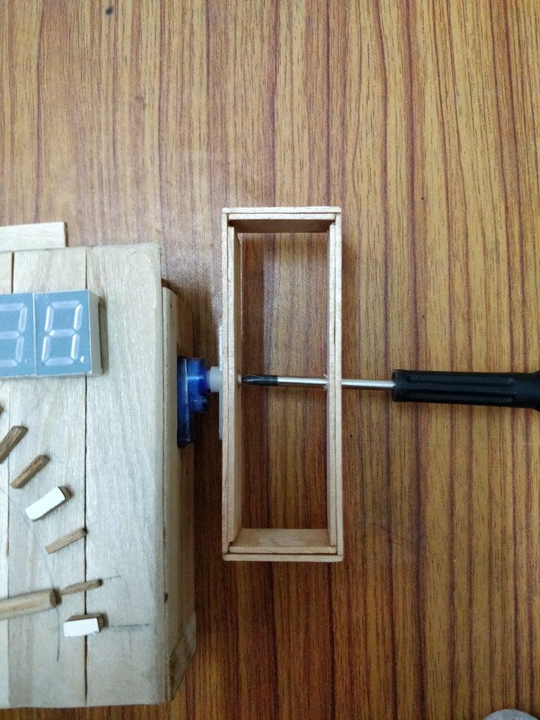 Setting Up Sand-glass and Servo