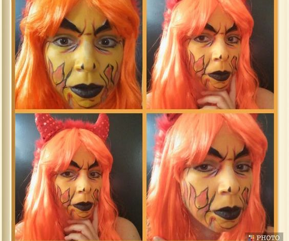Malicious Devil Face Paint