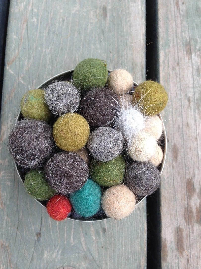 Felted Fur Balls