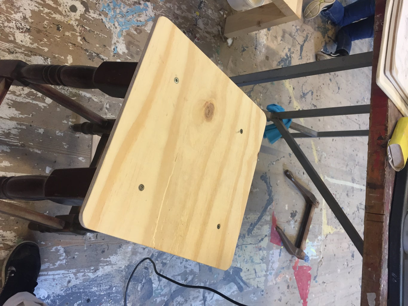 Attach the Wooden Seat to Your Stool:
