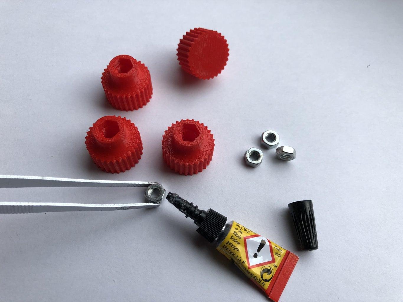 Prepare Fixing Knobs
