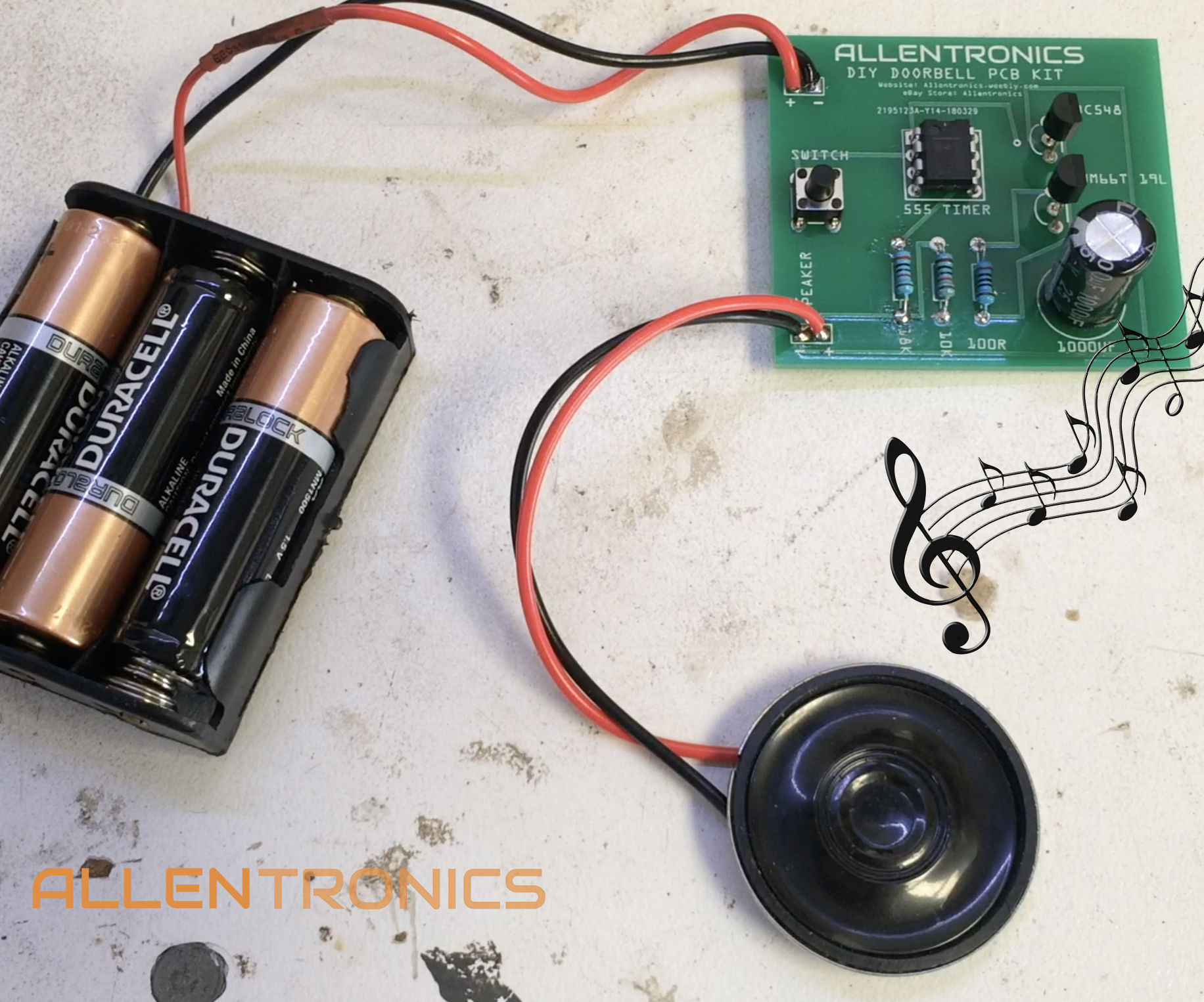 DIY Doorbell With 555 Timer + UM66T Chip