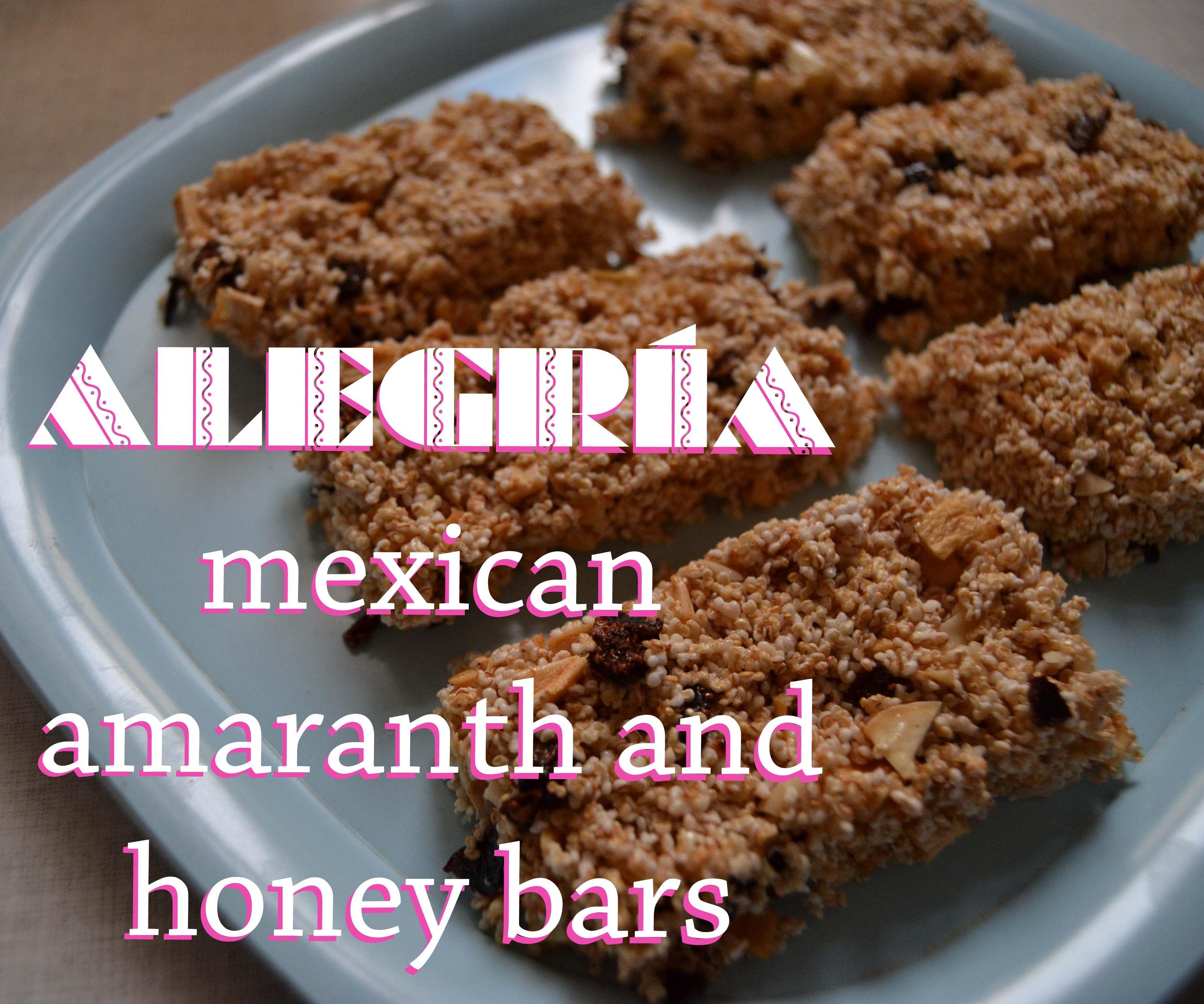 alegria - healthy mexican amaranth and honey bars