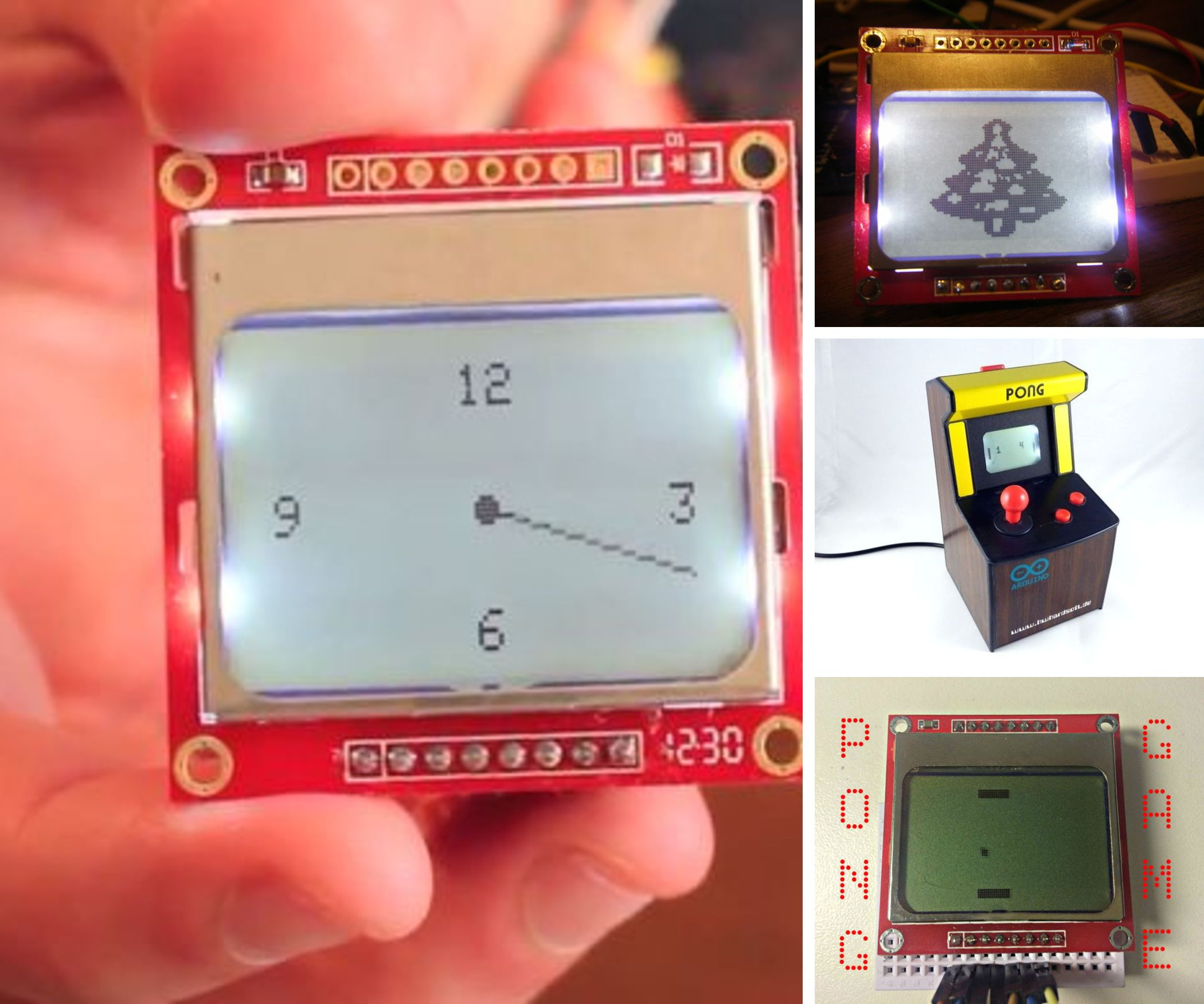 Nokia 5110 screen projects