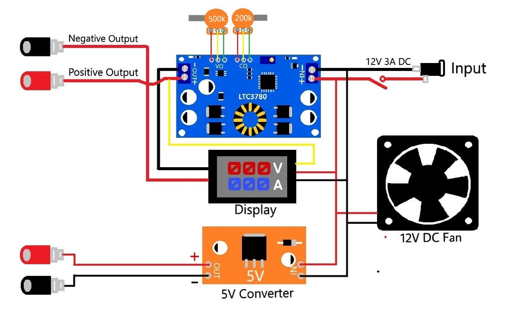 DIY Variable Power Supply With Adjustable Voltage and Current : 14 Steps  (with Pictures) - Instructables | Adjustable Power Supply Wiring Diagram |  | Instructables