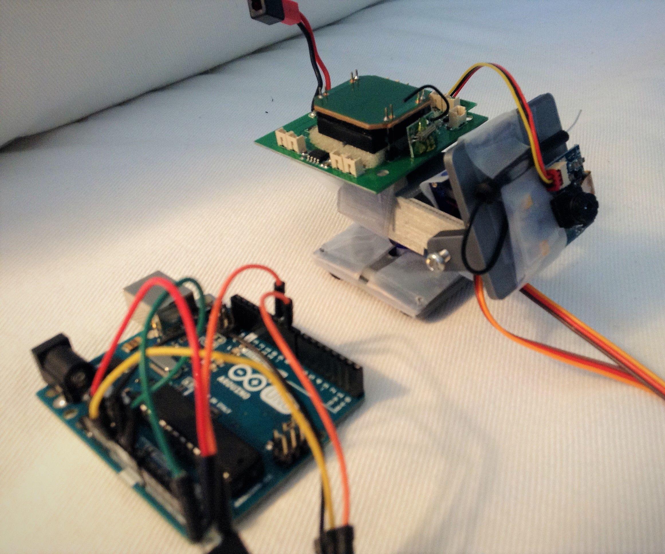Simple Arduino Pan & Tilt System